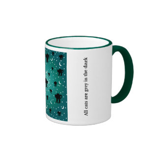 All cats are grey in the dark ringer mug