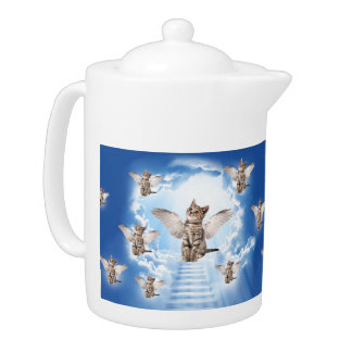 All Cats Go to Heaven Teapot