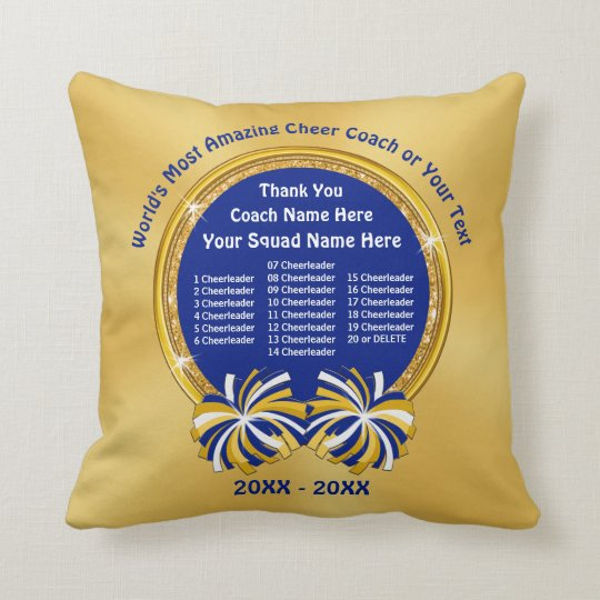 All Cheerleaders Thank You Gift For Cheer Coach Throw Pillow