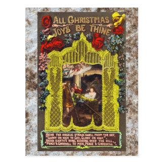All Christmas Joys Vintage Christmas Card Postcards