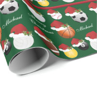 All Christmas Sport | Name Wrapping Paper