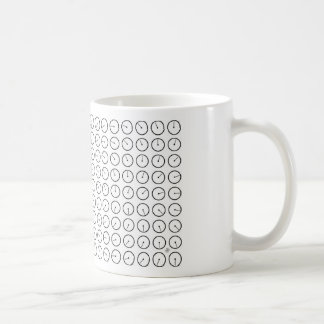 all clocks classic white coffee mug