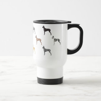 All Colors of Great Danes *Cropped ear* Travel Mug