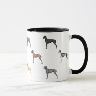 All Colors of Great Danes *Natural eared* Mug