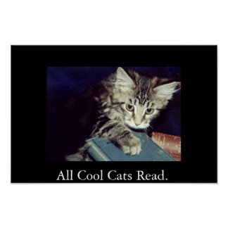 All Cool Cats Read. Posters