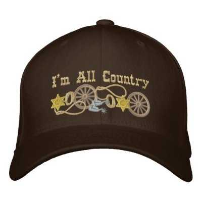 All Country Western Theme Embroidered Hat