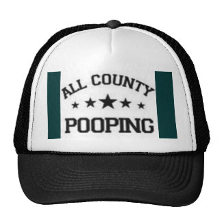 all county pooping trucker hat