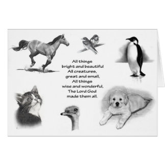 All Creatures Great And Small: Animals: Scripture Card