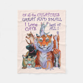 All Creatures Great and Small Cats! Fleece Blanket