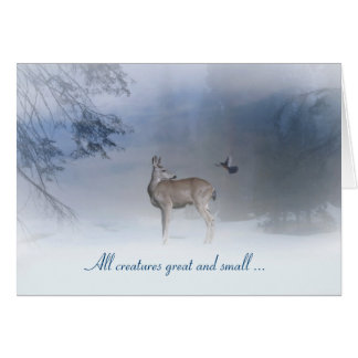 All Creatures Great and Small Christmas Card