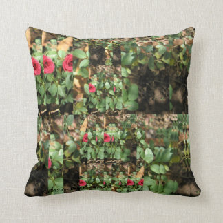 ALL CUT UP ROSES COLLAGE PILLOW