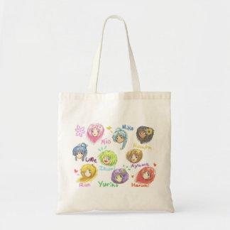 All Cute Nine Chibi Muses Tote Canvas Bag