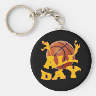 All Day Basketball Design Keychain