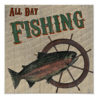 All Day Fishing Poster
