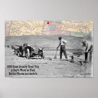 All Day Utah 1908 Road Trip Poster