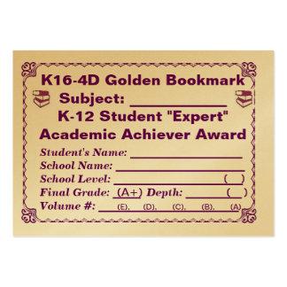~All de oro Subjects~ 100ct de la señal de K16-4D Tarjeta De Negocio