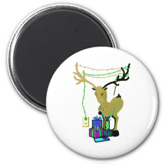 All Decked Out 2 Inch Round Magnet