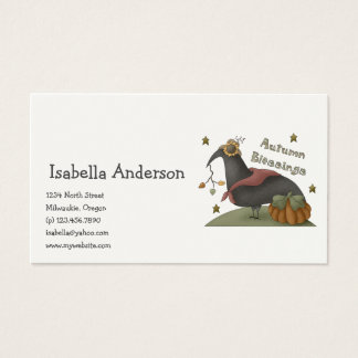 All dem Blessings · Autumn Blessings Crow Business Card