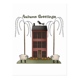 All Dem Blessings · Autumn Greetings Post Card