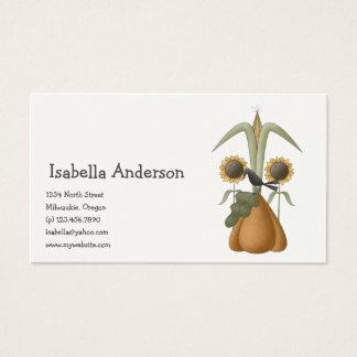All dem Blessings · Crow, Pumpkin & Sunflowers Business Card