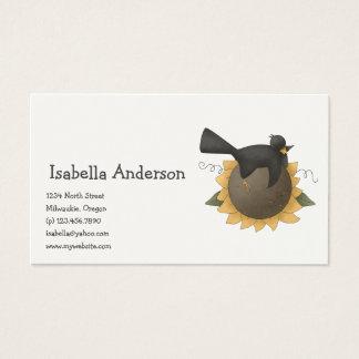 All dem Blessings · Crow & Sunflower Business Card