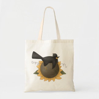 All dem Blessings · Crow & Sunflower Tote Bag