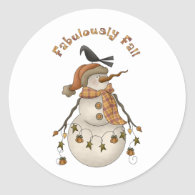 All Dem Blessings · Fabulously Fall Round Sticker