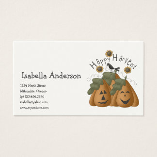 All Dem Blessings · Happy Harvest Business Card