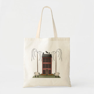 All dem Blessings · Sheep & Saltbox House Tote Bag
