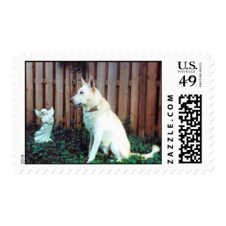 All Dogs Are Angels Stamp