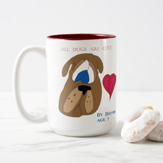 All Dogs are Cute! Two-Tone Coffee Mug