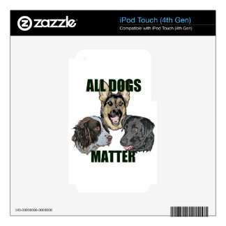 All dogs matter iPod touch 4G decals