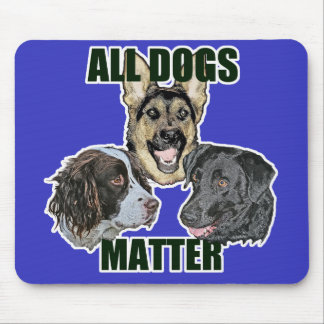 All dogs matter mouse pad