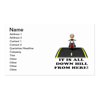 All Down Hill From Here 2 Business Card Template