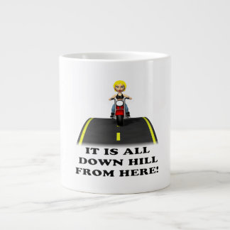 All Down Hill From Here 3 Giant Coffee Mug