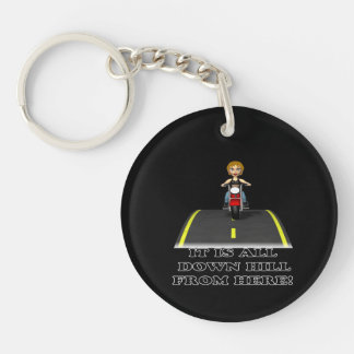All Down Hill From Here 4 Keychain