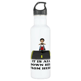 All Down Hill From Here 5 Water Bottle