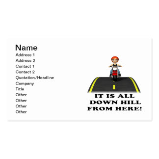 All Down Hill From Here Business Card Templates