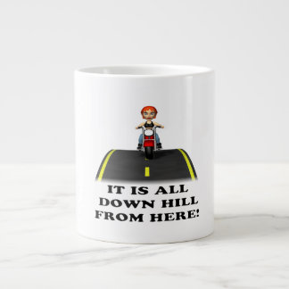 All Down Hill From Here Large Coffee Mug