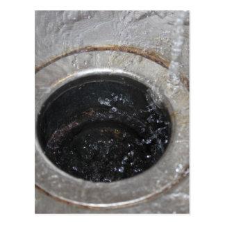 All down the drain postcard
