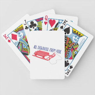 All Downhill Bicycle Playing Cards