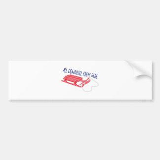 All Downhill Bumper Sticker