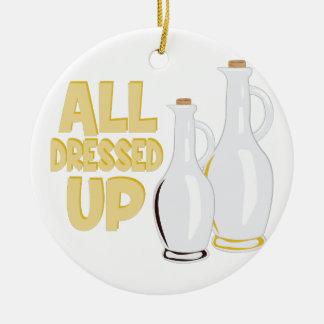 All Dressed Up Ceramic Ornament