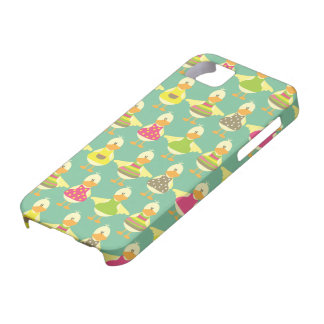 all dressed up cute ducks in a row iPhone SE/5/5s case