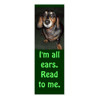 All Ears 2 Bookmark Business Card Templates