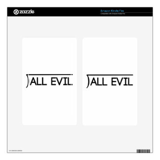 All Evil Kindle Fire Decal