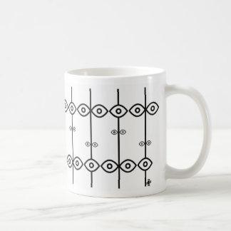 all eyes classic white coffee mug