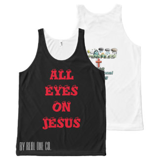 All Eye's on Jesus. Apostle Inspirational Gear All-Over-Print Tank Top