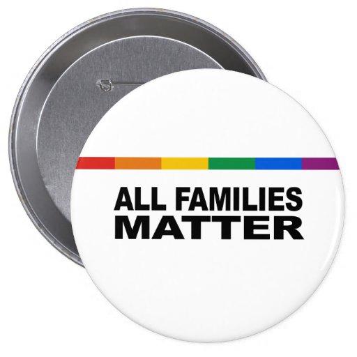 All families matter pinback button