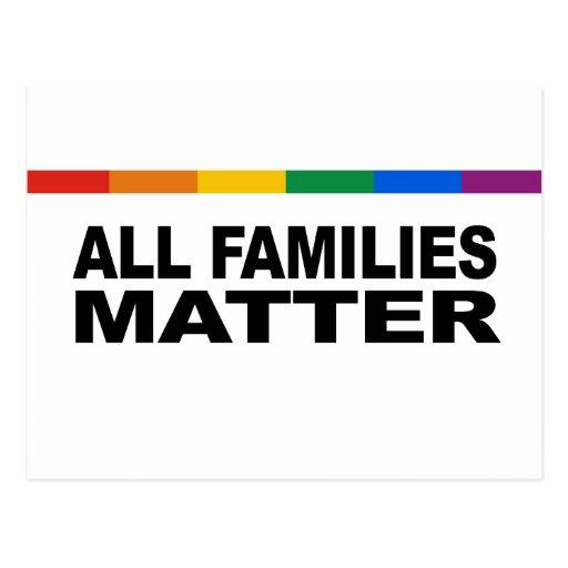 All families matter postcard